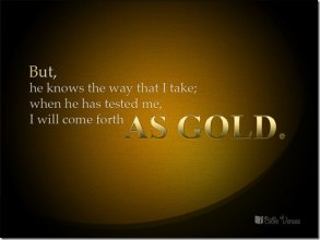 Job 23-10 come forth as gold