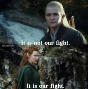 Legolas and Tauriel - It is our Fight