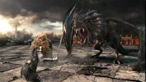 Alice fights Jabberwocky