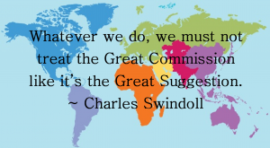 Great commission not great suggestion
