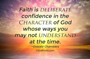 trust Gods character